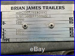 Brian James Car Trailer C4 Blue Transporter