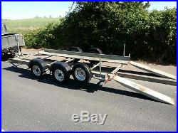 Brian James Car Transporter Trailer Good Condition Lots of New Parts 14ft Foot