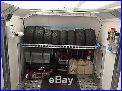 Brian James Enclosed Race Sport Trailer Race Car Solar Panel, Tyre Rack, 2016