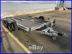 Brian James Minno. 4 Wheel Car Trailer Transporter. Tyre Rack Included