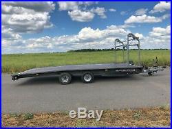 Brian James Trailer Tilt Bed Car Transporter 3000kg, Tyre Rack, Winch, T-TT-T-347