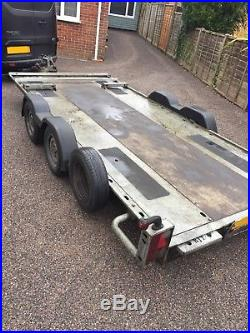 Brian James Twin Axle Car Transporter / Trailer Just Serviced