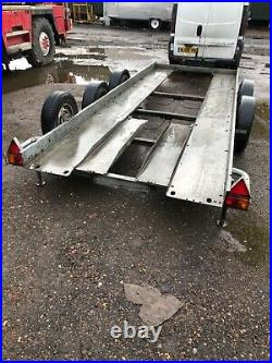 Brian James Twin Axle Car Transporter Trailer With Ramps And Winch Braked System