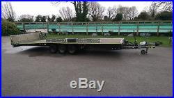 Brian james18ft(5.5m)bed tri-axle 3500kg tilt car transporter/recovery trailer