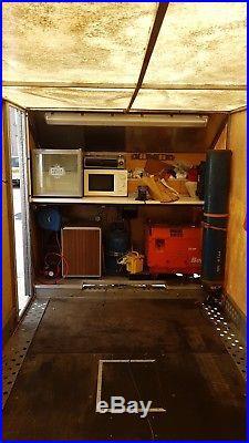 Brian james fully enclosed car trailer race covered tilt bed