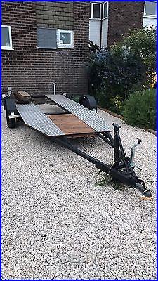 Car Trailer Transporter Single Axel Spare Tire