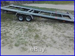 Car Trailer Transporter TILT BED Wheels Under Bed Lowered Cars Easy Loading