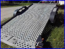 Car Trailer Transporter TILT/FLAT BED Hydrolic Lowered Cars Easy Loading VGC