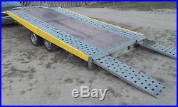 Car Trailer Transporter TILT/FLAT BED Wheels Under Bed 3500kg