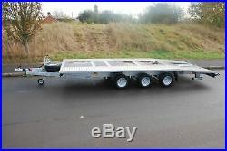 Car Transporter Trailer Beavertail 3500kg Al-ko Triple Axle 19,7ft X 6,8ft