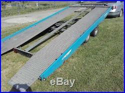 Car Transporter Trailer TILT BED Wheels Under Bed Lowered Cars Easy Loading