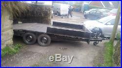 Car trailer beavertail trailer car transporter