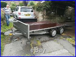 Car trailer car transporter beavertail trailer