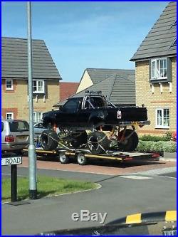 Car trailer tilt bed HAZELWOOD low level, with winch fits lwb Vans & low cars