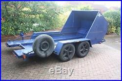 Car trailer transporter, twin axle race car transporter 16'x7' 2 tonne