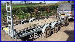 Car transporter plant twin axle braked trailer winch