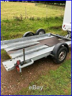 Car transporter trailer Brian James. Used condition, 3.2m long x 1.8m wide