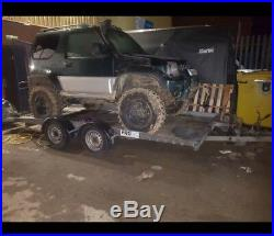 Car transporter trailer tilting