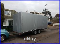 Car transporter trailer twin axle covered
