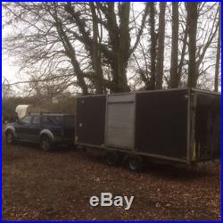 Covered car transporter/trailer double wheel base
