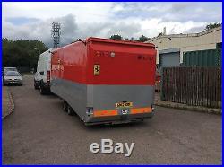 Covered four wheel car trailer Ex Ferrari GT trailer