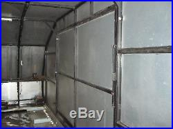 Covered race car trailer