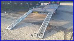 EDUARD multitransporter flat bed/ car transporter trailer recovery