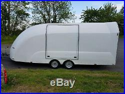 Eco-Trailer Shuttle Covered Trailer White with Winch 3000KG 13 Pin Electrics