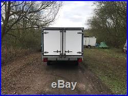 Enclosed Flat Bed Trailer. Car / Cargo / Box / Race Trailer