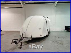Enclosed Race Car Trailer Covered Eco -Trailer Winch Tilt Bed Transporter