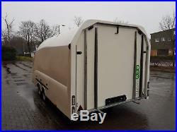 Enclosed Race Car Transporter Trailer Covered Eco-Trailer Tilt Bed Power Winch