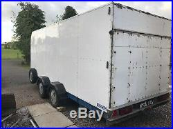 Enclosed car transporter trailer