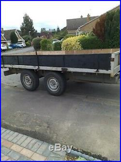 Flat bed trailer 12 feet x 6 feet twin axle, factory manufactured