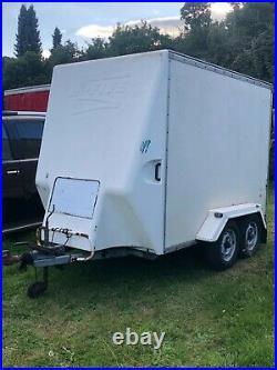 Four Wheel Box Trailer White