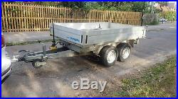 GERMAN TIPPER TRAILER 2.8 TON 10/6 foot DOUBLE SIDES