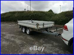 German 3 way tipper trailer 3.5 ton Aluminium ramps