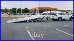 German tipper car transporter trailer 3.5 ton Aluminium Tilt bed