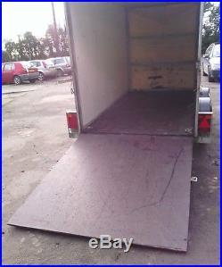 Hazelwood 2 axle box trailer not ivor Williams
