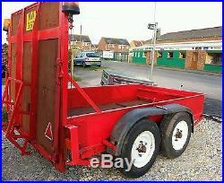 Heavy duty plant trailer twin axle 3.5ton