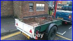 Hiab crane trailer split cargo tray tipping in Norwich