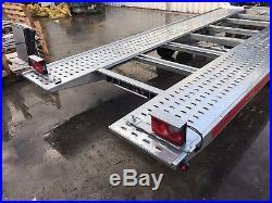 Hydraulic tilt car transporter trailer