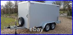 INDESPENSION TAV 5 BRAKED RAMP BOX VAN TRAILER 10FTx 5FT MOTORBIKE TWIN AXLE