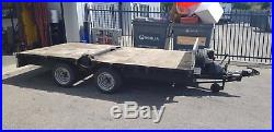 Ifor Williams 12' x 6' 3500Kg Trailer fitted with hydraulic 1.2 tonne crane