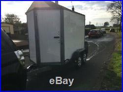 Ifor Williams 8ft twin axle box trailer