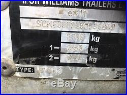 Ifor Williams BV85G Box Trailer Twin Axle 2700Kg