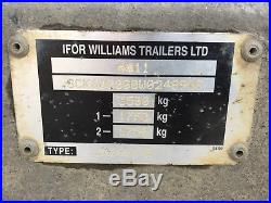 Ifor Williams Flatbed Beavertail Car Transporter Trailer Twin Axle 3500KG 16x7.4