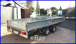 Ifor Williams LM146G Car Flatbed 14FT Twin Axle Trailer Sides Ramps 2014 3500kg