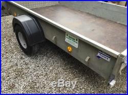 Ifor Williams P8e 750kg single axle trailer drop ramp spare wheel