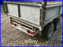 Ifor Williams TT85G Tipper Tipping Trailer With Cages Electric Tip 8 x 5