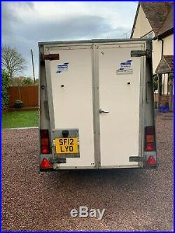 Ifor Williams box van bv 84 trailer. Taxi coach storage, show market trader